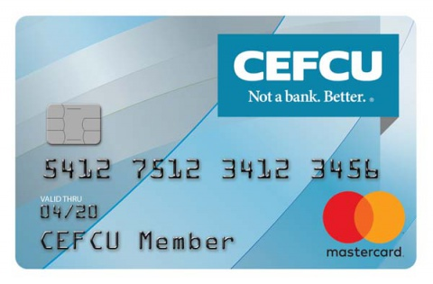 Credit cards cefcu blue and grey curved design colourmoves