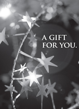 A Gift For You with stars Gift Card Holder