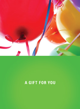 A Gift For You with Balloons Gift Card Holder
